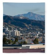 High Angle View Of A City, Beverly Fleece Blanket by Panoramic Images