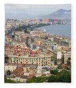 High Angle View Of A City, Naples Fleece Blanket