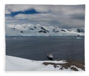 High Angle View Of A Harbor, Neko Fleece Blanket