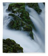 High Angle View Of A Waterfall, Sol Duc Fleece Blanket