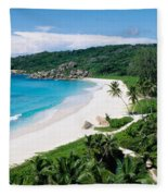 High Angle View Of The Beach, Grand Fleece Blanket