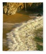 High Angle View Of Waterfall Fleece Blanket