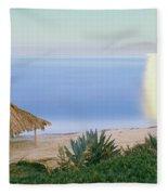 High Angle View Of Windansea Beach, La Fleece Blanket