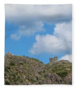 High As The Sky - Blue Sky - Cliffs Fleece Blanket
