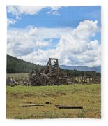 High Country Roundup The Old Days Fleece Blanket