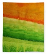 High Desert Original Painting Fleece Blanket