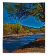 High Desert River Bed Fleece Blanket