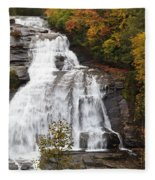 High Falls In The Dupont State Forest Fleece Blanket