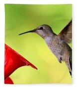 High Flying Hummingbird Fleece Blanket
