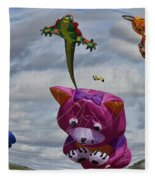 High In The Sky Fleece Blanket