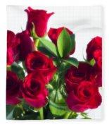 High Key Red Roses Fleece Blanket