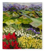 High Mountain Patch Fleece Blanket