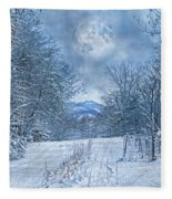 High Peak Mountain Snow Fleece Blanket