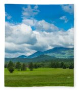 High Peaks Area Of The Adirondack Fleece Blanket
