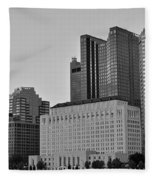 Columbus Close Up Black And White Fleece Blanket