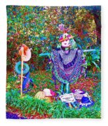 High Satch Scarecrow In A Hat Fleece Blanket