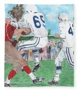 High School Football Fleece Blanket