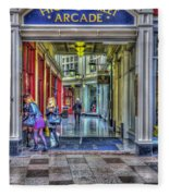 High Street Arcade Cardiff Fleece Blanket