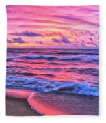 High Tide At San Onofre Fleece Blanket