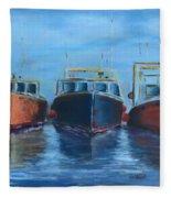 High Tide Breton Harbor Fleece Blanket