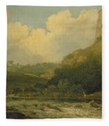 High Tor, Matlock, 1811 Fleece Blanket