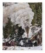 Highball Through Cascade Canyon Fleece Blanket
