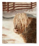 Highland Bull Fleece Blanket