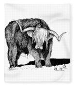 Highland Bull Fleece Blanket