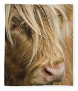 Highland Cow Portrait Fleece Blanket