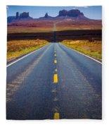Highway 163 Fleece Blanket