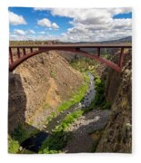 Highway 97 Bridge Fleece Blanket