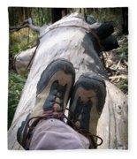 Hiking Boots Fleece Blanket