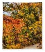 Hiking In Autumn Fleece Blanket