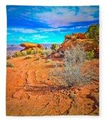 Hiking In Canyonlands Fleece Blanket