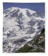 Hiking Mt Rainier Fleece Blanket