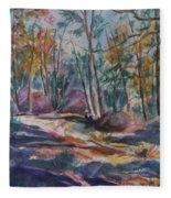 Hiking To A Vision Fleece Blanket