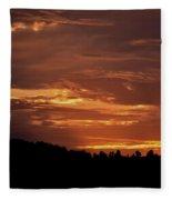 Hill Country Sunrise Fleece Blanket