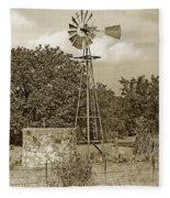 Hill Country Windmill Fleece Blanket