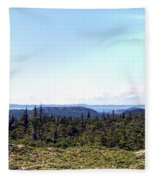Hill View - Summer - Berry Picking Barrens Fleece Blanket
