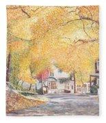 Hillside Avenue Staten Island Fleece Blanket