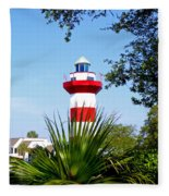 Hilton Head Lighthouse And Palmetto Fleece Blanket