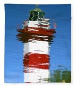 Hilton Head Lighthouse Reflection Fleece Blanket