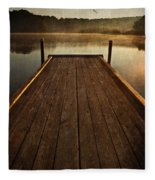 Hinckley Lake Sunrise Fleece Blanket