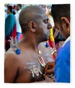 Hindu Devotees Prepare For Thaipusam Festival Singapore Fleece Blanket