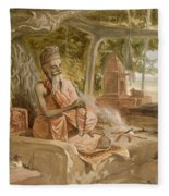 Hindu Fakir, From India Ancient Fleece Blanket