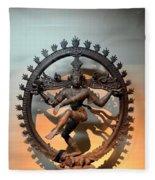 Hindu Statue Of Shiva In Nataraja Dance Pose Fleece Blanket