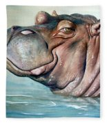 Hippo Lisa Fleece Blanket