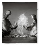 Hippo's Fighting Fleece Blanket
