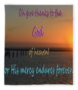 His Mercy Endures Forever Fleece Blanket