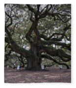 Historic Angel Oak Fleece Blanket